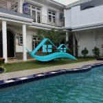 villa di puncak kolam renang pribadi