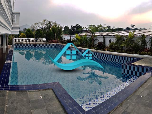 sewa villa puncak ada kolam renang