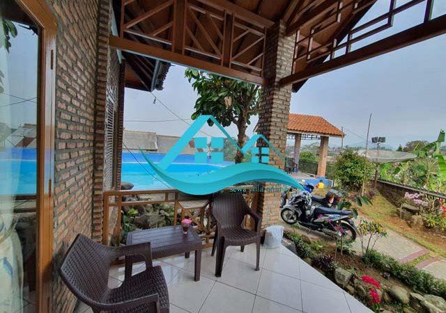villa di puncak 2 kamar dengan kolam renang